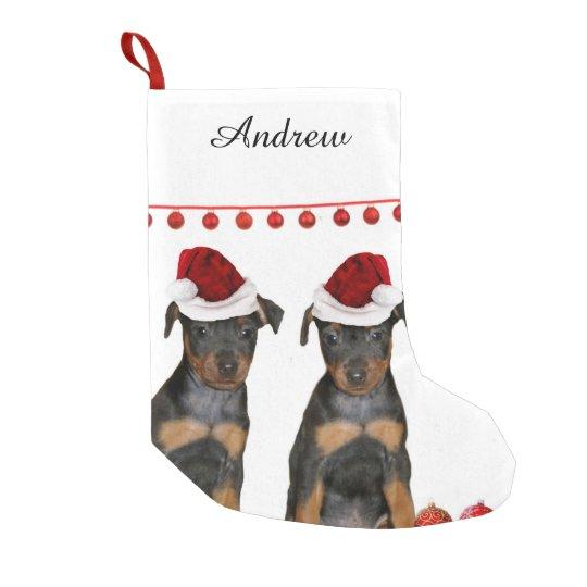 Miniature Pinscher Small Christmas Stocking