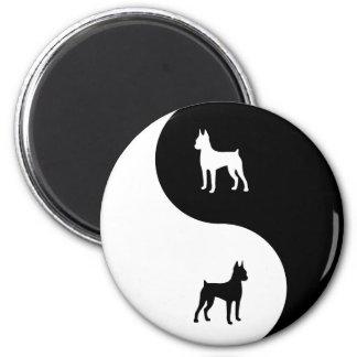 Miniature Pinscher Yin Yang Magnet