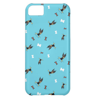 Miniature Pinschers Bows and Bones Blue Case-Mate iPhone Case