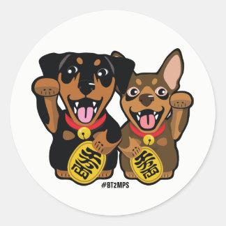Miniature Pinschers Min Pin Lucky Dogs Sticker