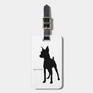 Miniature pinshiyaragejitagu miniature pinscher luggage tag