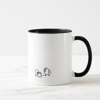 Miniature poms or keeshonden mug