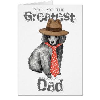 Miniature Poodle Dad Card