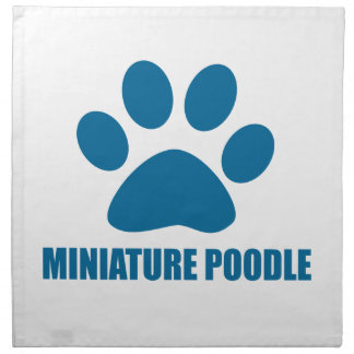 MINIATURE POODLE DOG DESIGNS NAPKIN