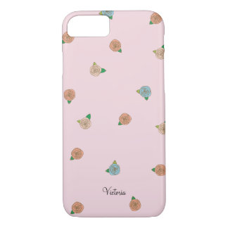 Miniature Rose Floral iPhone 7 Case