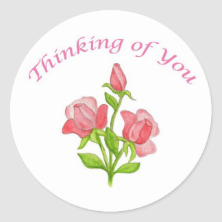 Miniature Roses Thinking of You sticker