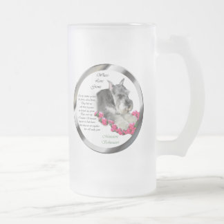 Miniature Schnauzer Art Gifts Frosted Glass Beer Mug