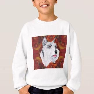 Miniature Schnauzer - Autumn Floral Design Sweatshirt