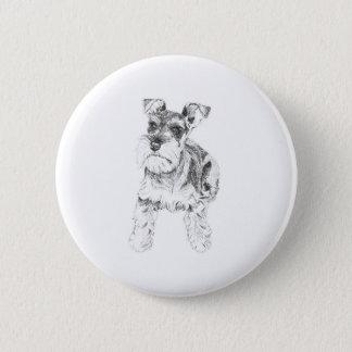 Miniature Schnauzer Badge 2 Inch Round Button