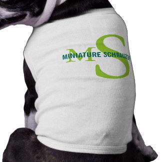 Miniature Schnauzer Breed Monogram Design Doggie Tshirt