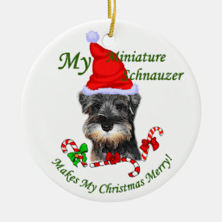 Miniature Schnauzer Christmas Gifts Ornament