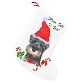 Miniature Schnauzer Christmas Merry Small Christmas Stocking