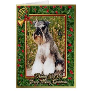 Miniature Schnauzer Dog Blank Christmas Card