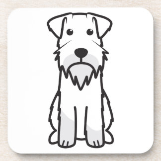 Miniature Schnauzer Dog Cartoon Coasters