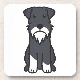 Miniature Schnauzer Dog Cartoon Drink Coaster