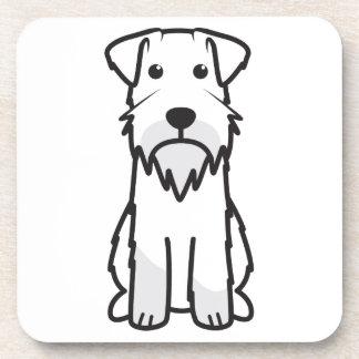 Miniature Schnauzer Dog Cartoon Drink Coasters
