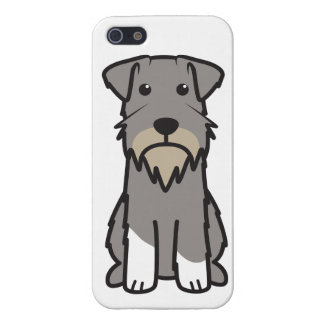 Miniature Schnauzer Dog Cartoon iPhone 5/5S Cases
