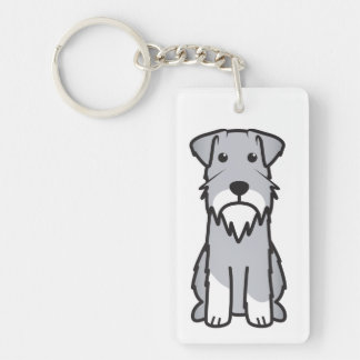 Miniature Schnauzer Dog Cartoon Keychain