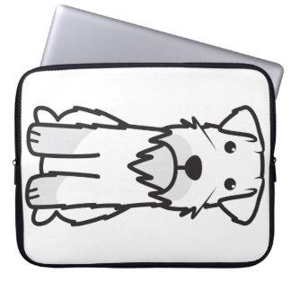 Miniature Schnauzer Dog Cartoon Laptop Sleeve
