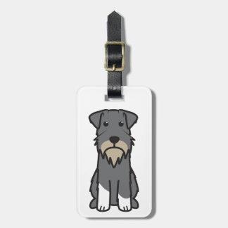 Miniature Schnauzer Dog Cartoon Luggage Tag