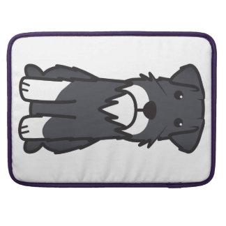 Miniature Schnauzer Dog Cartoon MacBook Pro Sleeve