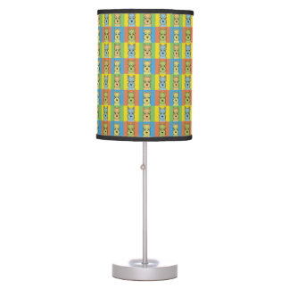 Miniature Schnauzer Dog Cartoon Pop-Art Table Lamp