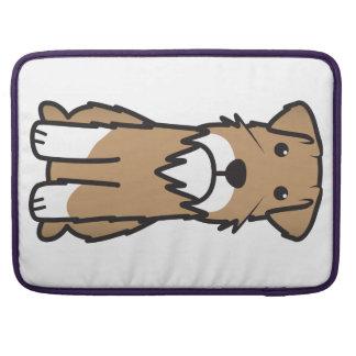 Miniature Schnauzer Dog Cartoon Sleeve For MacBook Pro