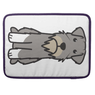 Miniature Schnauzer Dog Cartoon Sleeve For MacBooks