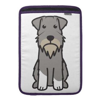 Miniature Schnauzer Dog Cartoon Sleeves For MacBook Air