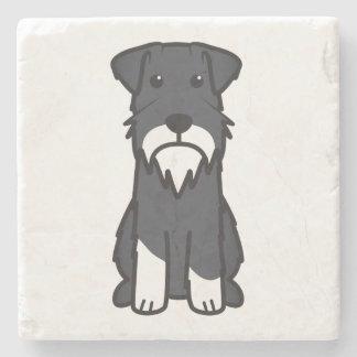 Miniature Schnauzer Dog Cartoon Stone Beverage Coaster