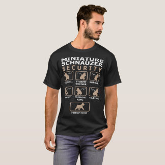 Miniature Schnauzer Dog Security Pets Funny Tshirt