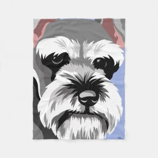 Miniature Schnauzer Gifts Fleece Blanket