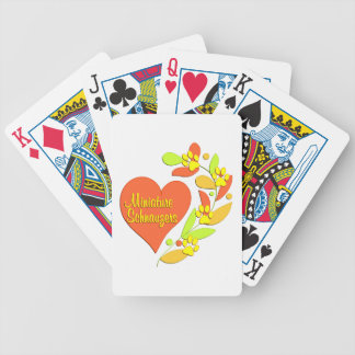 Miniature Schnauzer Heart Bicycle Playing Cards