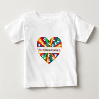 Miniature Schnauzer Love Baby T-Shirt