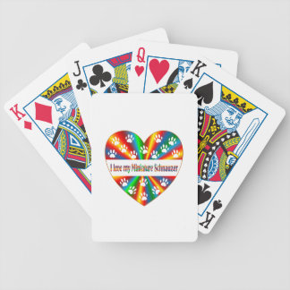 Miniature Schnauzer Love Bicycle Playing Cards