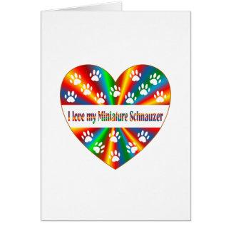 Miniature Schnauzer Love Card