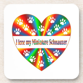 Miniature Schnauzer Love Drink Coaster