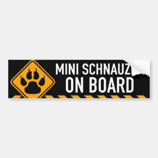 Miniature Schnauzer On Board Bumper Sticker
