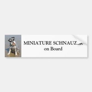Miniature Schnauzer on board custom Bumper Sticker