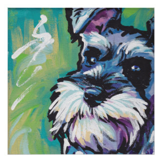 Miniature Schnauzer Pop Art Print