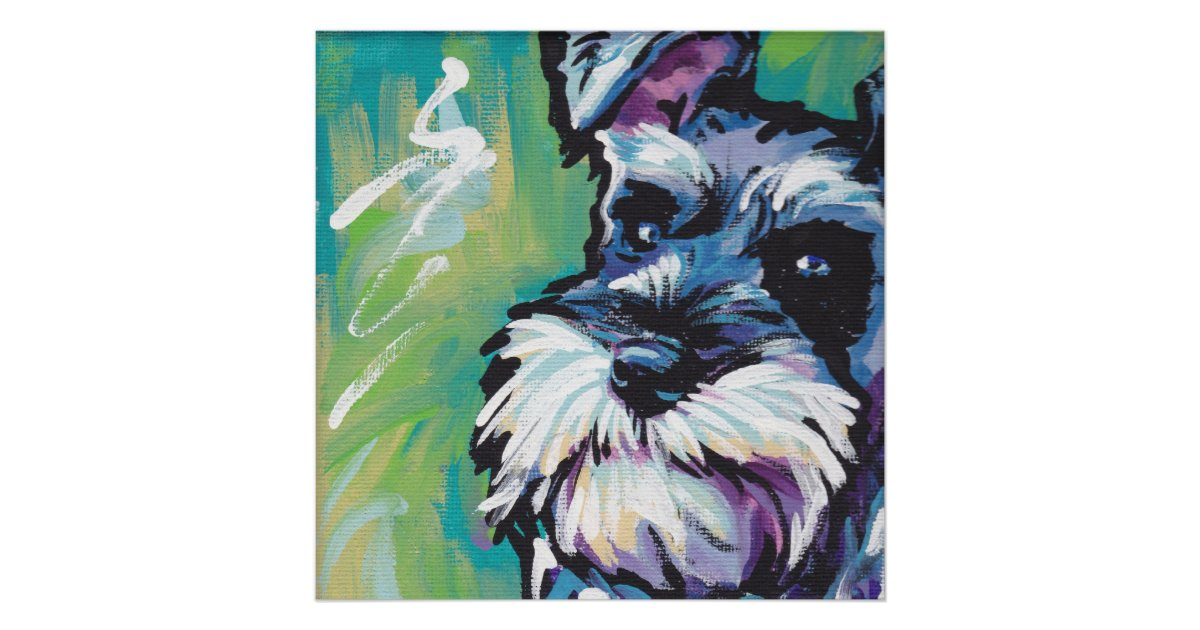 Miniature Schnauzer Pop Art Print Miniature Schnauzer Pop Art Print