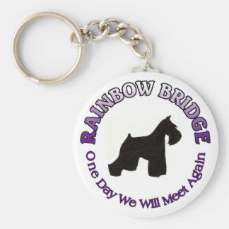 MINIATURE SCHNAUZER RAINBOW BRIDGE SYMPATHY DOG KEYCHAIN
