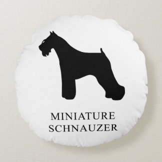 Miniature Schnauzer Round Pillow