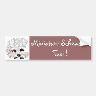 Miniature Schnauzer Taxi ! Bumper Sticker