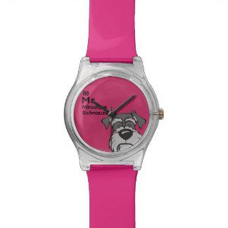 Miniature Schnauzer - The Dog Table Wristwatches