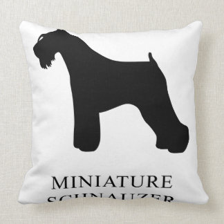 Miniature Schnauzer Throw Pillow
