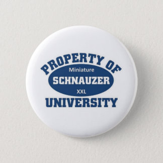 Miniature Schnauzer University 2 Inch Round Button