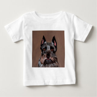 Miniature Schnauzer Water Color Art Painting Baby T-Shirt