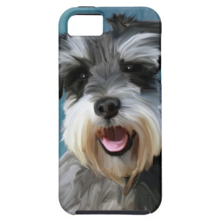 Miniature Schnauzer Water Color Art Painting iPhone 5 Cover