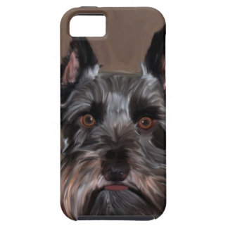 Miniature Schnauzer Water Color Art Painting iPhone 5 Covers